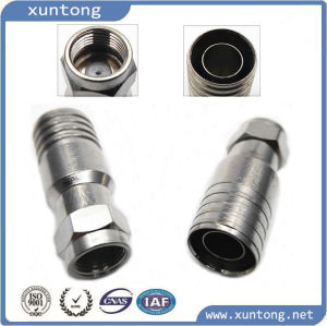 F Compression Connector for Coaxial Cable RG6 Rg59 pictures & photos