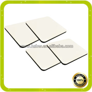 Imprintable Blanks Wood Sublimation MDF Square Coaster with Cork Bottom pictures & photos