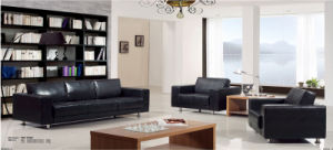 Classic Office Furniture Leather Sofa Set pictures & photos