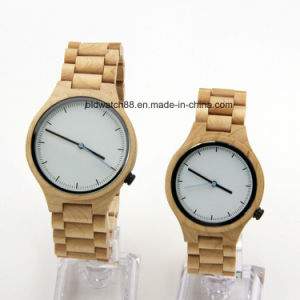 Hand Made Wooden Couple Wrist Watch for Lovers Japan Movement pictures & photos