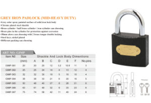 Factory Offer Cheap Price Good Quality Grey Iron Padlock pictures & photos