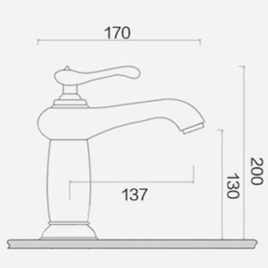FLG Chrome Finished Bathroom Basin Tap with Single Handle pictures & photos