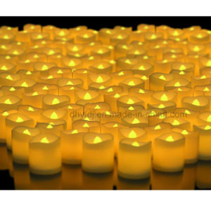 Small LED Flickering Wax Tea Light Candle pictures & photos