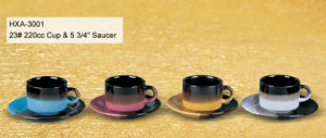 Colorful Stoneware Cup and Saucer for Daily Use pictures & photos