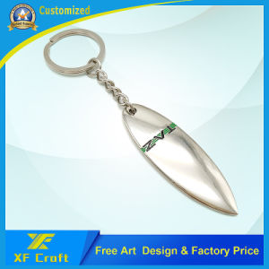 Professional Customized Zinc Alloy Nickel Plated Key Ring with Company Logo Printing (XF-KC11) pictures & photos