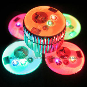 Merry Christmas Round LED Blinking Button Pin with Logo Printed (3569) pictures & photos