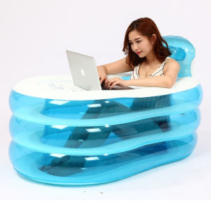 Family Indoor Blue Color PVC Inflatable Bathtub for Adult pictures & photos