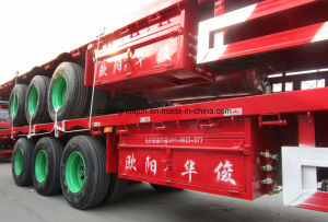 Low Bed Flated Truck Trailer pictures & photos