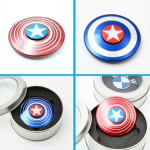 Fashion Captain America Aluminum Fidget Spinners Hand Bearing Spinners Toys pictures & photos