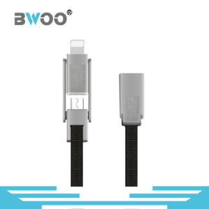 New Flat 2in1 USB Cable Data and Charge Sync for Lightning/Micro pictures & photos
