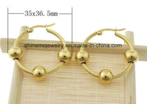 Shineme Jewelry High Quality Stainless Steel Ear Stud Plating Gold Earring (ERS6968) pictures & photos
