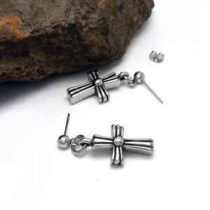 Punk Cross Men Eardrop 316L Stainless Steel pictures & photos