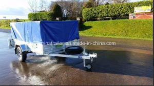 8FT X 5FT Hot Dipped Galvanised Box Trailer with Aluminum Ramp pictures & photos