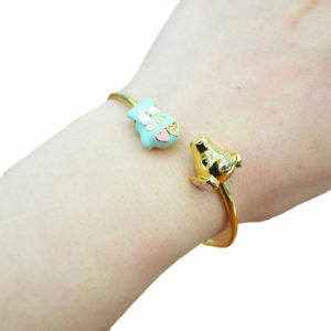 Latest Evil Eyes Buddha Religion Adjustable Copper Alloy Bangle Bracelet Designs in Gold pictures & photos