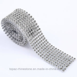 Self Cutting Hot Fix Adhesive Clear Glass Rhinestone Mesh Net pictures & photos