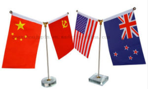 Custom Polyester National Club Desk Flag for Promotional Gift pictures & photos