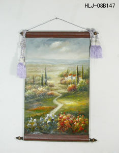 Plain Village Pattern Home Decorative Canvas Hanging Painting
