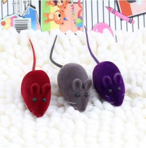 Flocked Squeaky Small Mouse Cat Toy (KB3001) pictures & photos
