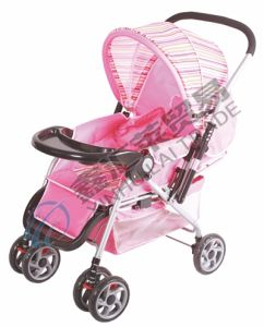 Baby Stroller with Fixation & Braking & Suspension Front Wheel