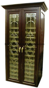 Wine Cabinet Made of Pine and Glass, Finished with Painted pictures & photos