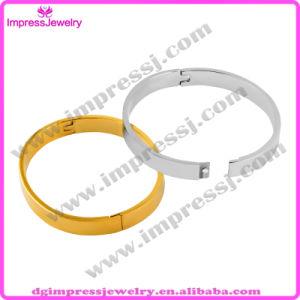 Blank Cuff Bangles Bracelets 316L Stainless Steel Plain Silver Buckle Love Charm Bracelet for Women or Men (IJB0458) pictures & photos