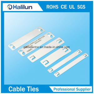 High Resistance to Oxidation Stainless Steel Cable Marker Plate pictures & photos