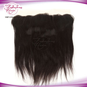 100% Virgin Hair Straight Peruvian Lace Closure Frontal 13X4 pictures & photos