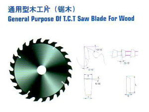 General Prupose of T. C. T Saw Blade for Wood pictures & photos