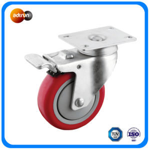 Medium Duty Full Braked PU Casters pictures & photos