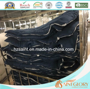 Saint Glory Solid Color Dark Blue Washable Microfibre Polyester Comforter pictures & photos