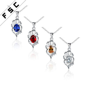 Wholesale Imitation Jewelry Silver Plated Fashion Pendant Necklace in CZ pictures & photos