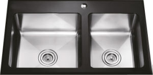 G2901 Double Bowls Glass Stainless Steel Sink pictures & photos