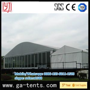 Aluminium Bend Shape Canopy with PVC Roof Cover and PVC Sidewall pictures & photos