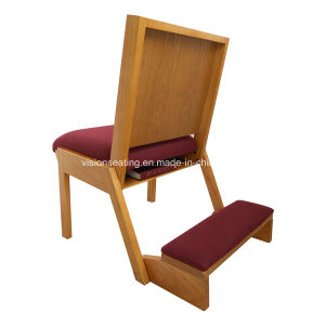 Interlocking Padded Stacking Wood Church Chair (4102) pictures & photos