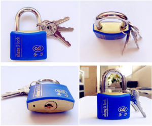 Hot Style Shengli Plastic Coated Iron Wire Drawing Finished Padlock pictures & photos