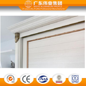 Customized Wood Grain Aluminum/Aluminium/Aluminio Sliding Bedroom Wardrobe Door pictures & photos