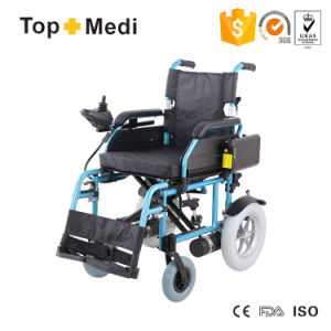 Detachable Samsung Battery Foldable Electric Wheelchair with Airplane Trip TEW022 pictures & photos