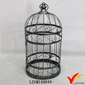 Handmade Rustic Retro White Antique Metal Birdcage pictures & photos