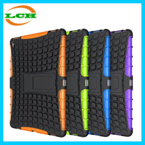 Dual Layer Tire Grain Shockproof Case for iPad with Stand pictures & photos