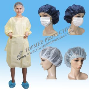 Hospital SMS Disposable Isolation Gown, Yellow Isolation Gown pictures & photos