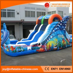 2017 High Quality 0.55mm PVC Tarapulin Inflatable Sea World Slide (T4-698) pictures & photos