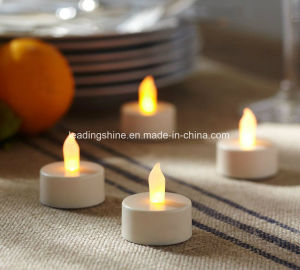 Yellow LED Tea Light Candles Realistic Battery Powered Flameless Candles pictures & photos