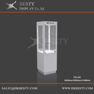 4 Sides Jewelry Display Tower Showcase with LED Light pictures & photos