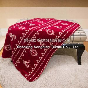 Polyester Printed Sherpa Fleece Throw/ Baby Blanket - Southwest Petroglyph pictures & photos