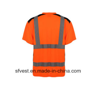 Class 2 100% Polyester Safety Reflective Polo Crew Neck with Mixture Color pictures & photos