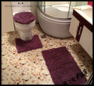 Microfiber Chenille Bath Mat Set 3PCS Polyester Bathroom Floor Mat pictures & photos