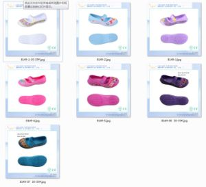 EVA Kids Sandals Shoes, Flat Girl Sandals Shoes with Fixed Strap pictures & photos