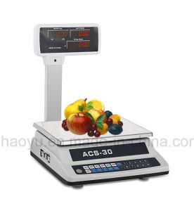 China Haoyu Electronic Price Platform Scale 30kg with Double Display pictures & photos