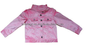 Lovely Pink 100% Cotton Girl Apparel with Long Sleeve pictures & photos