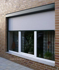 Exterior House Aluminium Glass Windows with Roller Shutters pictures & photos
